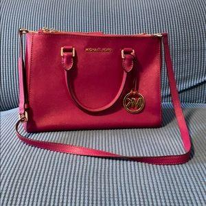 Michael Kors Leather Top-Zip Tote Bag